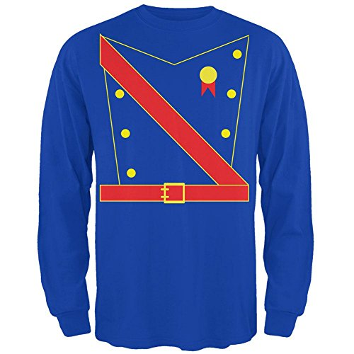 Halloween Prinz King Royal Guard Kostüm Herren Long Sleeve T Shirt Royal SM