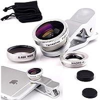 Yarrashop 3 en 1 Teléfono móvil Kit de lentes de cámara, Lente Ojo de Pez Lente