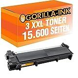 Gorilla-Ink® 3x Toner Super XXL kompatibel für Brother TN-2320 Black 15.600 Seiten MFC-L 2701 MFC-L 2701 DW MFC-L 2703 DW MFC-L 2720 DW MFC-L 2740 CW MFC-L 2740 DW