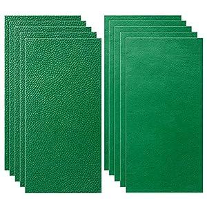Siyaqi Kit de Parche de Piel, 10 Unidades Pegatina de reparación de Parches de 20 cm x 10 cm, despegar y Pegar para Asiento de Coche, Muebles, Chaqueta, sofá, Mochila (Verde)