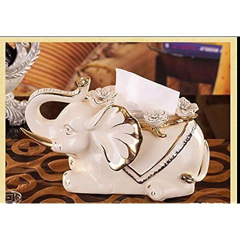 Europeo - stile carta ceramica contenitore di tovagliolo del salone della casa decorato di pompaggio decorazioni di carta di lusso Accessori per la casa i regali di nozze