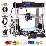 Kit de Impresora 3D DIY, versión actualizada Prusa I3, impresoras 3D de Escritorio, Filamento de...