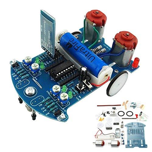 Ladicha D2-6 Diy 51 Mcu Smart Car Kit Bluetooth Fernbedienung Gravitations Erkennung Hindernis Vermeidung