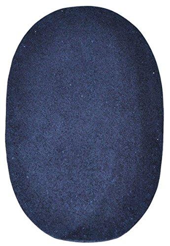 Unbekannt 1 Stk. Wildleder - echtes Leder - Flicken - dunkel blau - 10 cm * 15,5 cm - oval -...