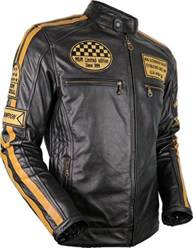 MDM Motorrad Retro Lederjacke aus echtem Leder (XL)