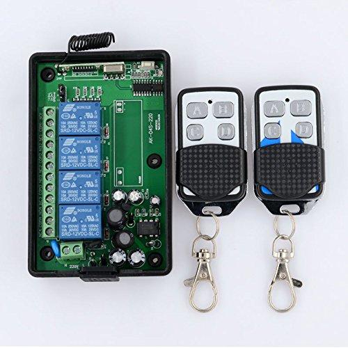 lejin AC 85V 110V 220V 4canaux RF sans fil télécommande radio Système d'éclairage sans fil Interrupteur d'apprentissage CODE Récepteur de Télécommande