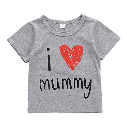 squarex ® Sommer Mädchen Kurzarm Tops Baby Brief Print Tops Baby T-Shirt Casual Tops Bequeme Blusenkleidung -