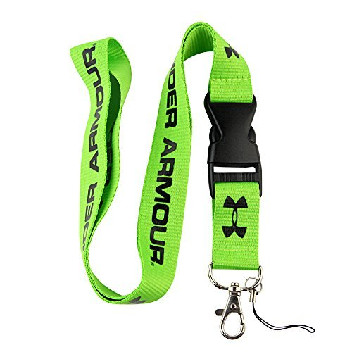 Preisvergleich Produktbild Green & Black Logo Keychain Key Chain Black Lanyard Clip with Webbing Strap Quick Release Buckle (PCK-004) by DarrellsWorld