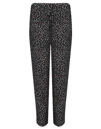 Klass Butterfly Print Trousers - Womans - 236P1S1010 - BLACK/MULTI - 10