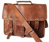 Fairkraft Leder 13 Laptoptasche Ledertasche Umhängetasche Universität Unitasche Lehrertasche Arbeitstasche Vintage Netbook Tasche Ledertasche Aktentasche Praktisch Braun