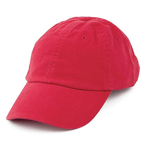Village Hats Casquette en Coton Délavé Rouge - Ajustable