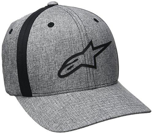 Alpinestars Herren Percent Men's Flexfit Hat Curved Bill Flex Back Logo Print Cap grau, S/M