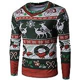 Herren Weihnachten Sweatshirt,❤️Binggong Herren Weihnachten Drucken Top Langarm-Bluse für Herren