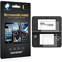 6 x Membrane Nintendo New 3DS 2016 Protector de Pantalla - [3 x Delantero y 3 x Trasero, Crystal Transparente]