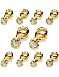 336d265df837 MATERIA Oro mosquetón doble cierre plata de ley 925 Vergoldet para pulseras  Cadenas   1677 · EUR 9