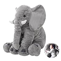 Baby Elephant Pillow Cushion Plush Sleeping Stuffed Plush toys Cute Animal Elephant Pillow Novelty Soft Toy For Decoration