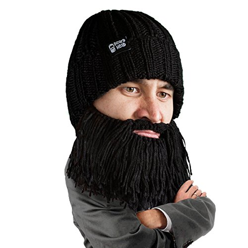 Beard Head Bartmütze - Barbar Vagabund - Lustige Strickmütze und falscher Bart Gesichtsmaske