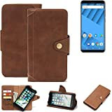 K-S-Trade compatible with Vernee M6 Wallet Case Mobile