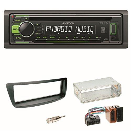 KDC-110UG Autoradio CD USB MP3 Einbauset für Toyota Aygo Citroen C1 Peugeot 107