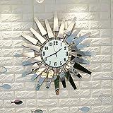 The harvest season Moderno e minimalista, camera orologio grande parete di modo creativo orologi da letto continentale orologio da parete orologio al quarzo muto tavolo appeso