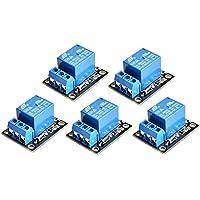 WINGONEER 5PCS KY-019 5V Bouclier de carte de module de relais d'une voie pour PIC AVR DSP ARM pour le relais d'arduino