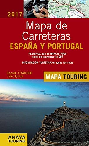 Mapa de carreteras de España y Portugal 1:340.000. 2017 (Mapa Touring)