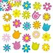 Autocollants Fleurs de printemps en mousse que les enfants pourront utiliser pour d�corer les collages, les cartes et les loisirs cr�atifs (Lot de 120)