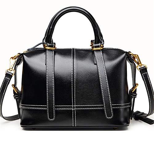 Kieuyhqk Frauen Brown Commuter Tote Bag Mode Schulter Crossbody Tasche Vintage Joker Handtasche Frauen Casual Handtasche Schulter-Handtasche (Farbe : Schwarz, Größe : S)