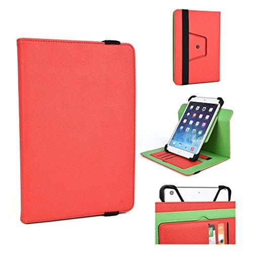 Kroo 25,4cm Tablet Ständer Cover Universal passgenau für Allview Viva H1001LTE rot rot