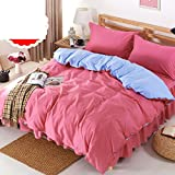 Reine Farbsteppdecke 100% Baumwolle Weich Komfortabel Zip Light Atmungsaktiv Nachhaltige Verhindern Sie Allergie-N 220x240cm(87x94inch)