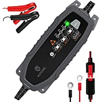 AUTOXEL Car Battery Charger and Maintainer 3.8A 6V 12V Intelligent Household Automotive Charger with 8 Modes for 12V LiFePO4 / Lead-acid Battery of Wet/GEL/MF/CA/EFB/AGM/VRLA
