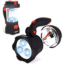 Duronic Hurricane - Torcia ricaricabile 4 in 1 con funzione lanterna e lampeggiante. Ricaricabile attraverso USB