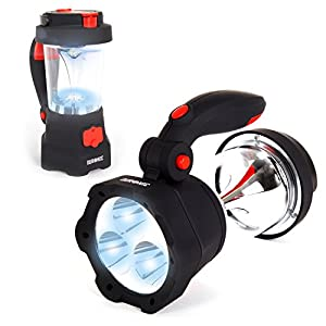 51huiU4vJ6L. SS300  - Duronic Hurricane LED Torch | Rechargeable 2 Ways: Wind-up & USB | 4-in-1 Design: Torch, Lantern, Emergency Beacon & Phone Charger | Bright Flashlight with SOS Red Flashing Light Mode | Hang/Hold/Stand