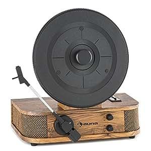 auna verticalo s tourne disque avec haut parleur platine vinyle platine verticale. Black Bedroom Furniture Sets. Home Design Ideas