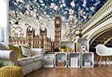 Wallsticker Warehouse Parlament London Stadt Vlies Fototapete Fotomural - Wandbild - Tapete - 152.5cm x 104cm / 1 Teilig - Gedrückt auf 130gsm Vlies - 844VEL - London