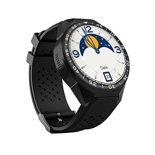 Bovake Smartwatch 3G Intelligenz Schrittzähler Stoppuhr Smart Watch für Männer Frauen Kompatibel mit Android 5.1 S99C GSM 8G Quad Core mit MP-Kamera GPS WiFi, schwarz