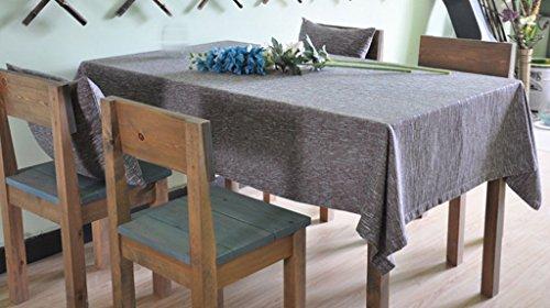 FACAIG Tischdecke aus Baumwolle, Leinen Home Hotel im europäischen Stil, Farbe Rechteck Tischdecke mit blauen Linien wasserdicht (Größe: 90 x 130 - Rechteck Blau Tischdecke