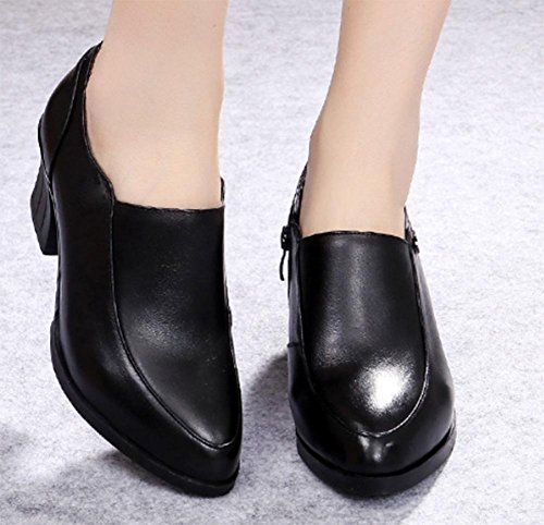 In Schuhen mit spitzem rauen mit den Schuhen mit rutschfesten Schuhen Freizeitschuh Frühling und Herbst Mutter Black