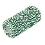100M Wrap Gift Cotton Rope Ribbon Twine Rope Cord String Army Green