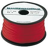 Overmann 002302000301000AA Cordeau de Maçon en Polypropylène, Rouge, 2 mm x 100 m