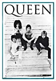 Close Up Queen Poster Brazil 81 (94x63,5 cm) gerahmt in: Rahmen Türkis