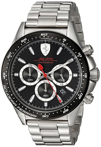 ferrari-mens-pilota-quartz-stainless-steel-casual-watch-colorsilver-toned-model-0830393
