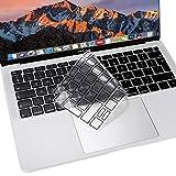 MOSISO Protection Clavier Compatible MacBook Air 13 Pouces 2018 A1932 avec Retina Affichage & Touch ID, Ultra-Fine Doux Premium TPU Protège Clavier, Noir