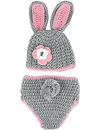 Y-BOA – Déguisement Bébé Costume – Animaux - Bonnet Crochet– 3~6 Mois garçon/fille– Photographie