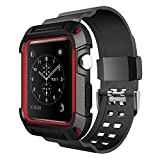 [Neue Version] Apple Watch Armband 42mm,Simpeak Schutzhülle mit Elastischen Strap Band für iWatch 42mm--Rot