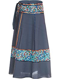 Falda cruzada - falda maxi de la India, con lazos