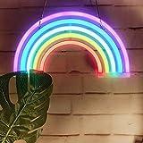 aizesi LED Cactus modellazione Lampada base di plastica Neon Ins Desktop ornamenti notte luce camera da letto Unicorn decorazioni Unicorno luce arcobaleno