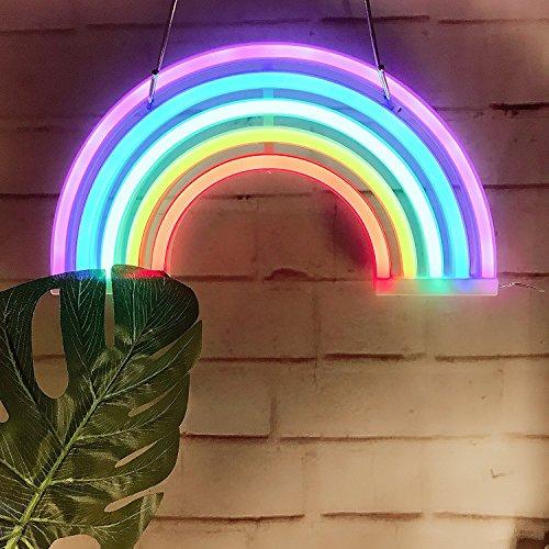aizesi LED Cactus Modelado plástico base Neon Ins Desktop lámpara de techo Luz nocturna Dormitorio Unicorn Decoración Unicornio luz