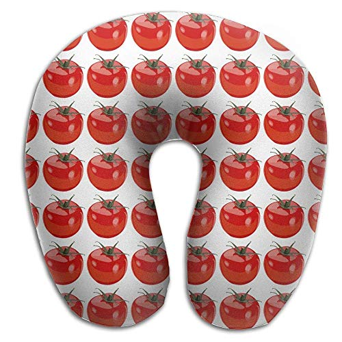 Bgejkos Neck Pillow with Resilient Material Red Tomatoes U Type Travel Pillow Super Soft Cervical Pillow -