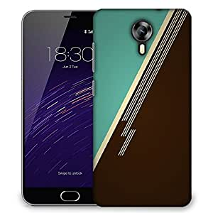 Snoogg Brown Lines Designer Protective Phone Back Case Cover For Meizu M2